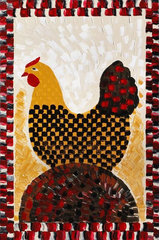 Checkerboard Hen copy